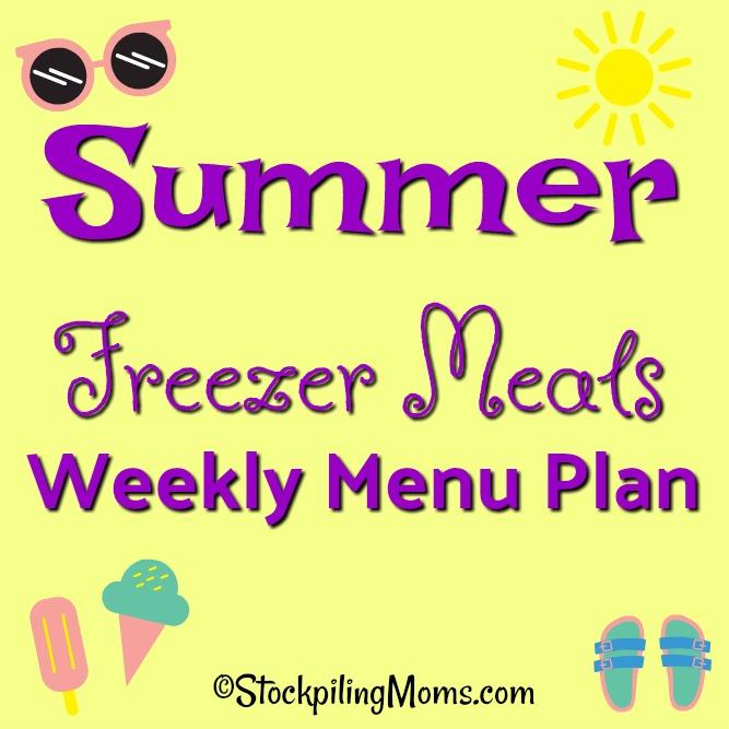 Menu Plan Monday - weekly menu