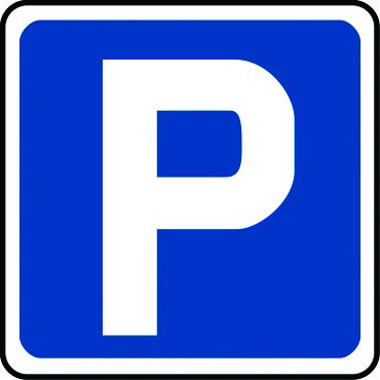 Traffic \u2013 \u0027P\u0027 parking symbol Fig 801 500 x 500mm Class 2 - P & L Form