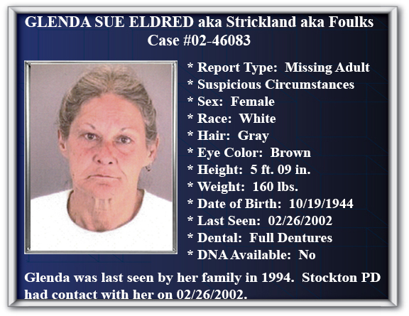 Missing Persons - City of Stockton, CA - missing person flyer