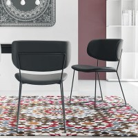 Calligaris Claire M Dining Chair - Leather Black