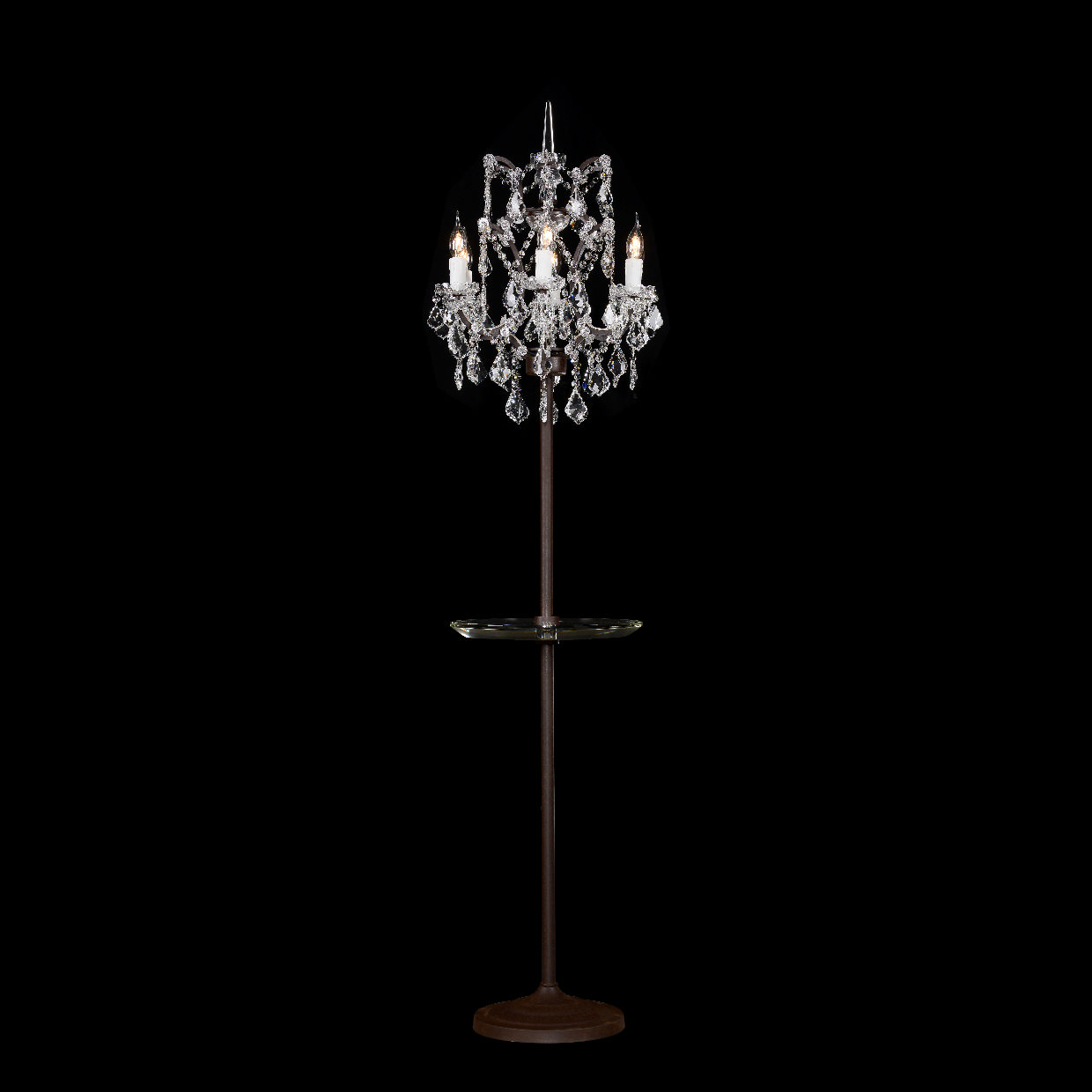 Timothy Oulton Crystal Floor Lamp with Tray