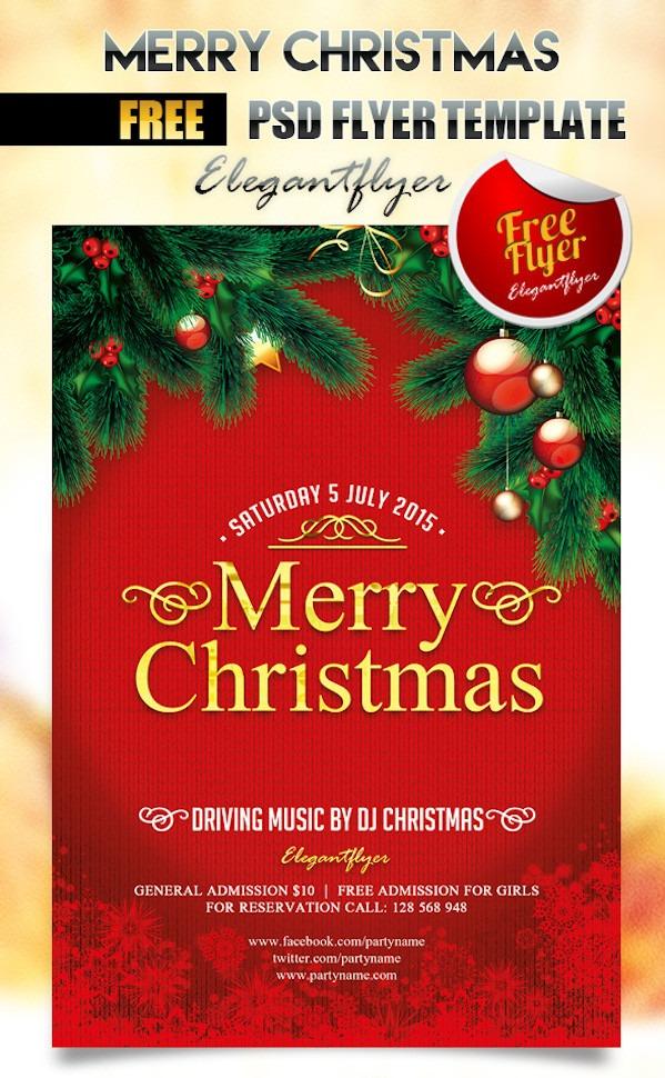 Free Christmas Party Flyer Templates - Stockvaultnet Blog