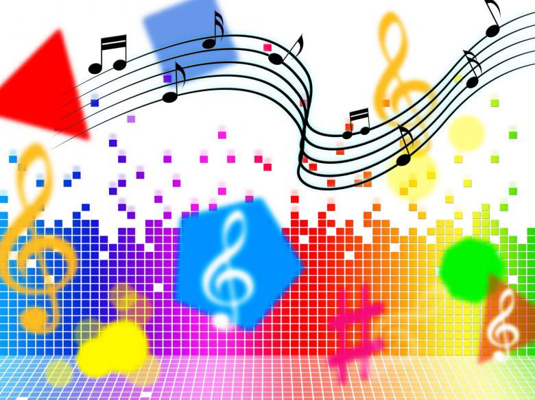 Music Background Shows Piece Melody Or Tune - Free Stock Photo by
