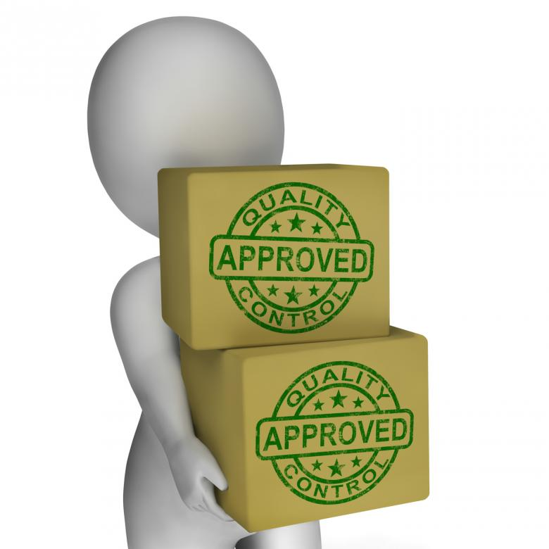 Quality Control Approved Stamps Showing Excellent Products - Free