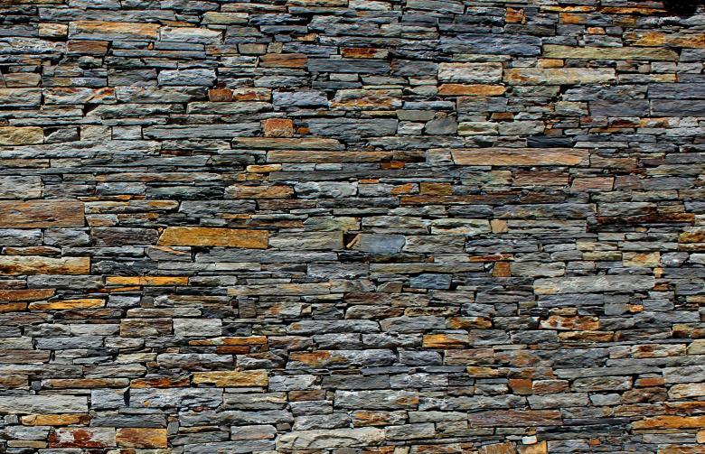 Stone Wall - Stone Texture - Schist - Background - Free Stock Photo