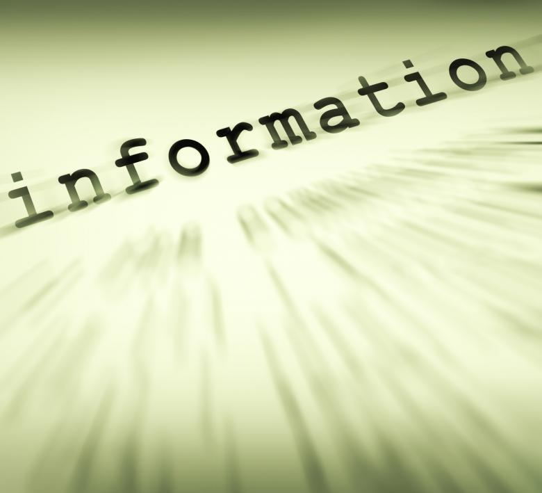 Information Definition Displays Customer Service Instructions And