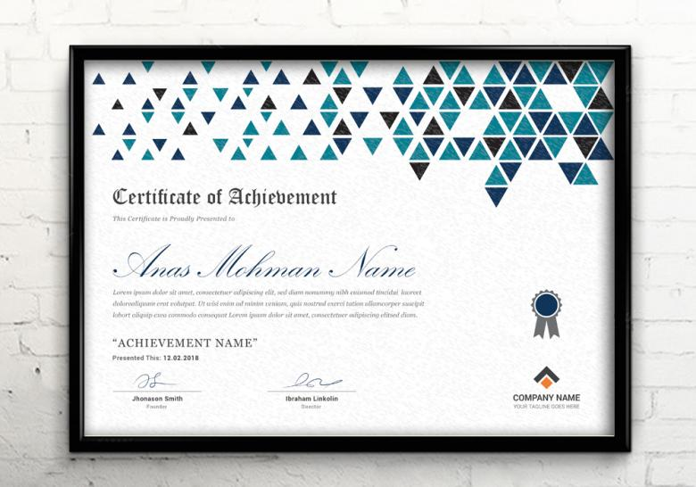 Corporate Certificate Template - Free Stock Photo by Anas Mannaa on