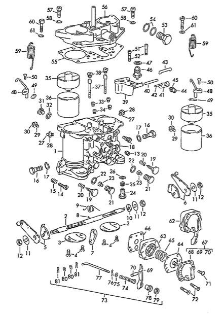 54 jeep solex carburetor diagram