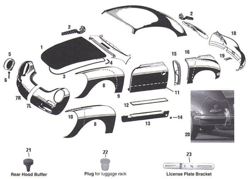 porsche 356 engine diagram porsche brake hose bracket a a similiar