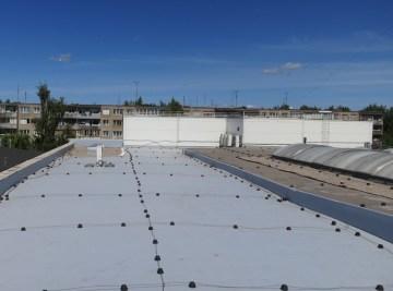 PVC stogo danga Fatrafol 810. Turgaus pastatas Kaune