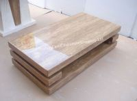 Luxury Yellow Marble Travertine Coffee Table for Living ...