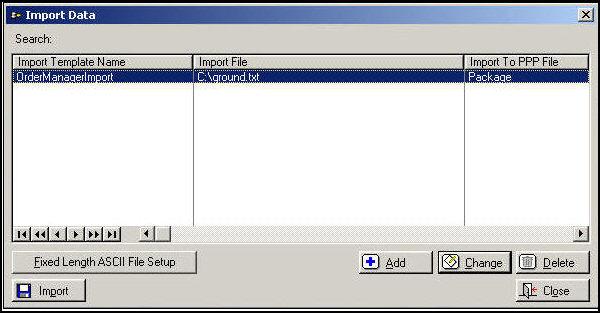 Postal Package Partner for USPS Shipments (WindowBook) - shipping information template