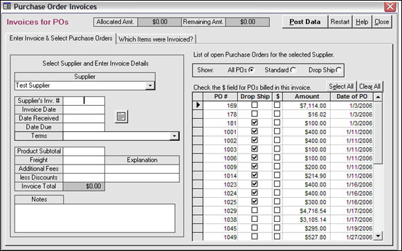 Drop-Ship Purchase Orders