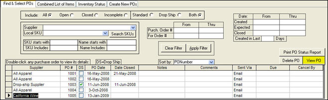 Managing Purchase Orders - what is invoice po number