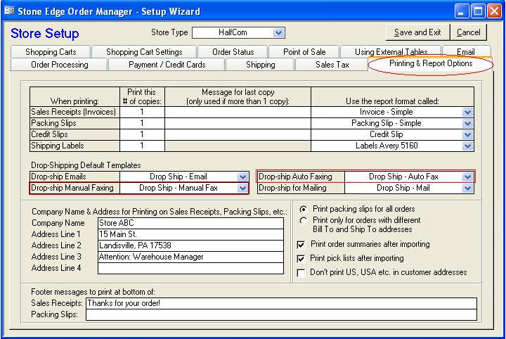 Faxing Purchase Orders via WinFax - shipping manual template