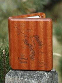 Linville River Map Fly Box - Fly Fishing North Carolina