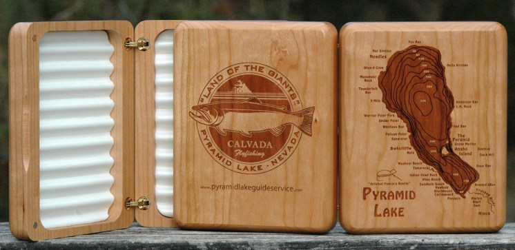 Pyramid Lake River Map Fly Box Calvada Flyfishing