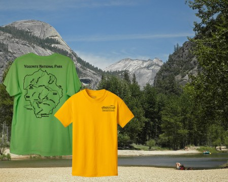 Yosemite National Park River Map T-Shirt