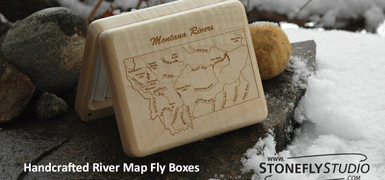 A MONTANA HAPPY HOLIDAYS FROM STONEFLY STUDIO – ALL OF OUR MONTANA RIVER MAP FLY BOXES ARE ON SALE THIS WEEK – DEC. 2-8, 2071