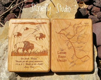 Lamar River Map Fly Box with Custom Artwork