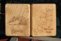 Custom McCloud River Map Fly Box