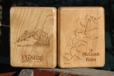 Custom McCloud River Map Fly Box