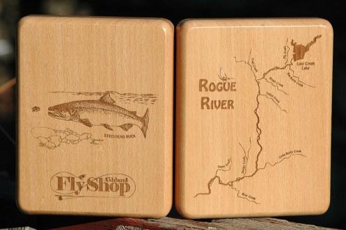 Custom Rogue River Map Fly Box