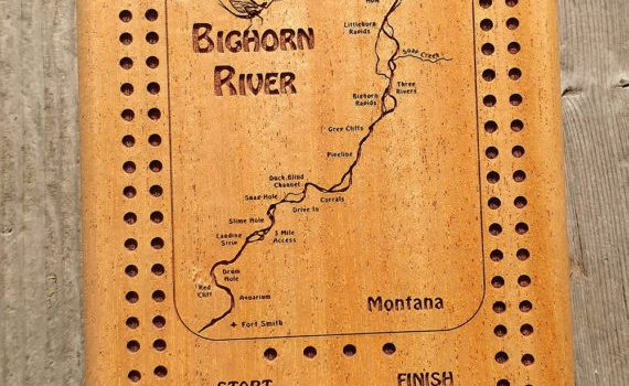 LIFE JUST GOT BETTER – RIVER MAP CRIBBAGE BOARD CARD BOXES – TRAVEL SIZE