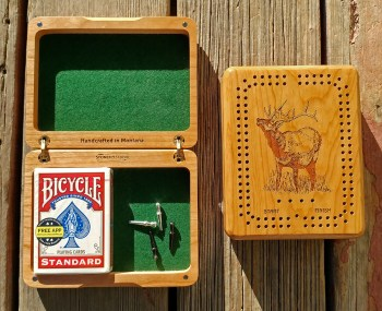 Wildlife Cribbage Card Box