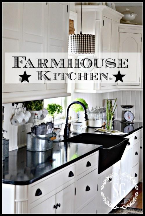 FARMHOUSE KITCHEN -Elements of a modern farmhouse kitchen-stonegableblog.com
