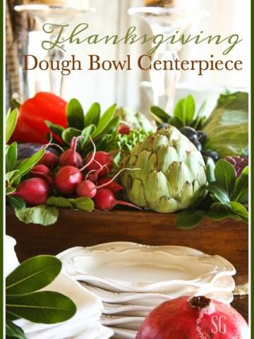 THANKSGIVING DOUGH BOWL CENTERPIECE