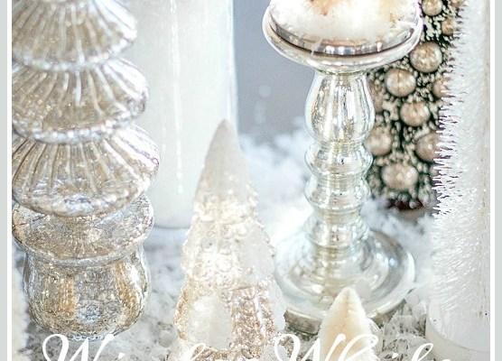 WINTER WHITE CHRISTMAS TABLESCAPE
