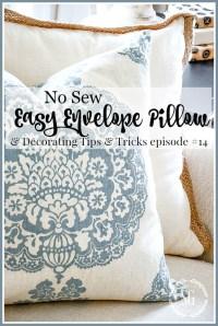 EASY NO SEW PILLOW COVER - StoneGable