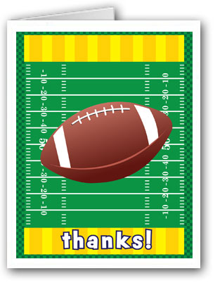 Stonehouse Collection Football Thank You Note Cards