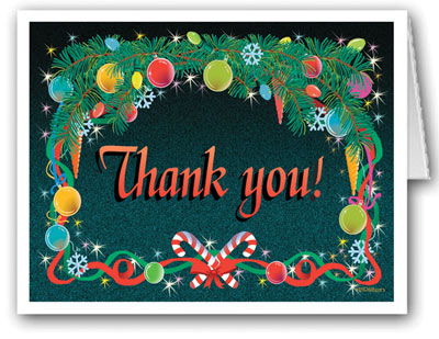 Stonehouse Collection Holidays Thank You Note Card