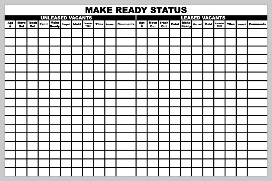 Stonehouse Signs Custom Make Ready Status Board_0jpg (900×600 - workout tracking sheet