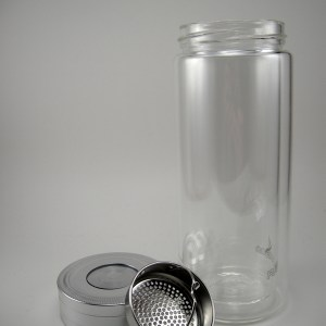Double Wall Glass Travel Jar 12 oz