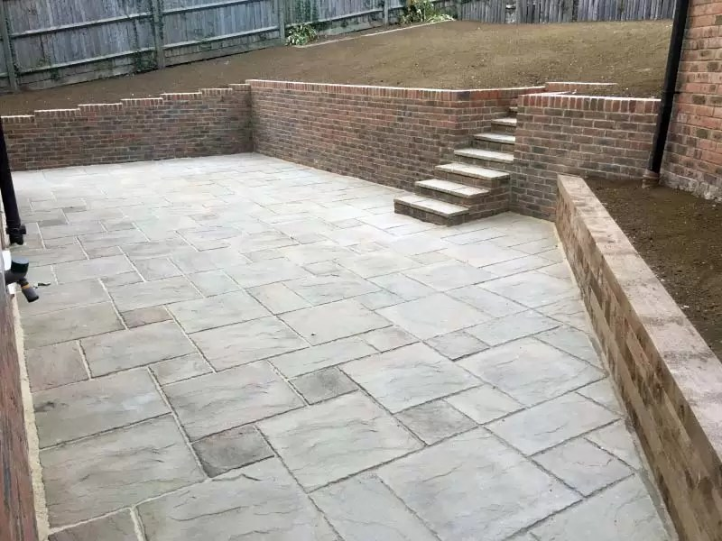 Landscaping Block Paving Patio Brickwork Walls Steps