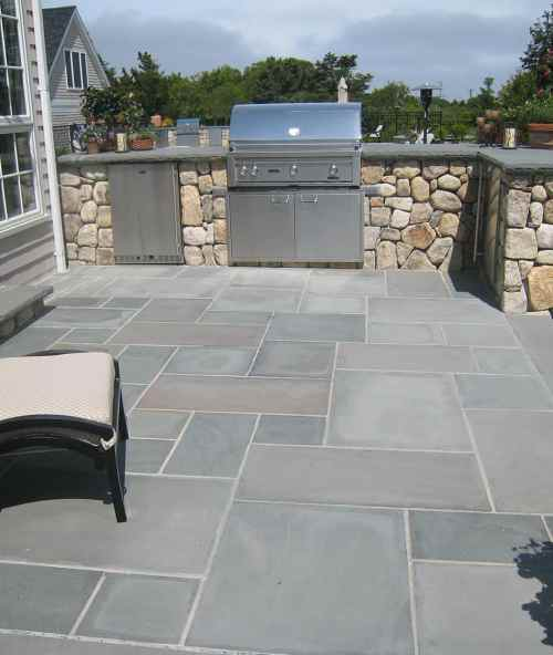 Medium Of Blue Stone Pavers