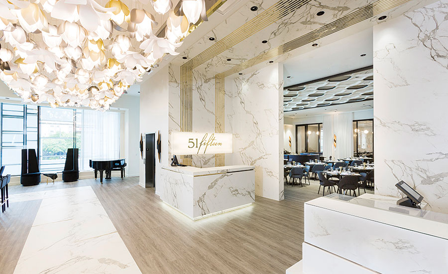 Fall Ceiling Wallpaper Design The Marble Aesthetic Of Dekton Gives Saks Fifth Avenue S