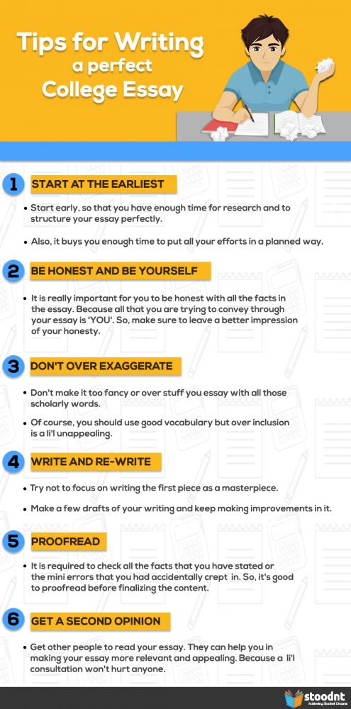 tips on writing college essays