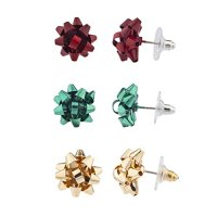Christmas Present Bow Multi-Earring Set | Stop The Boring