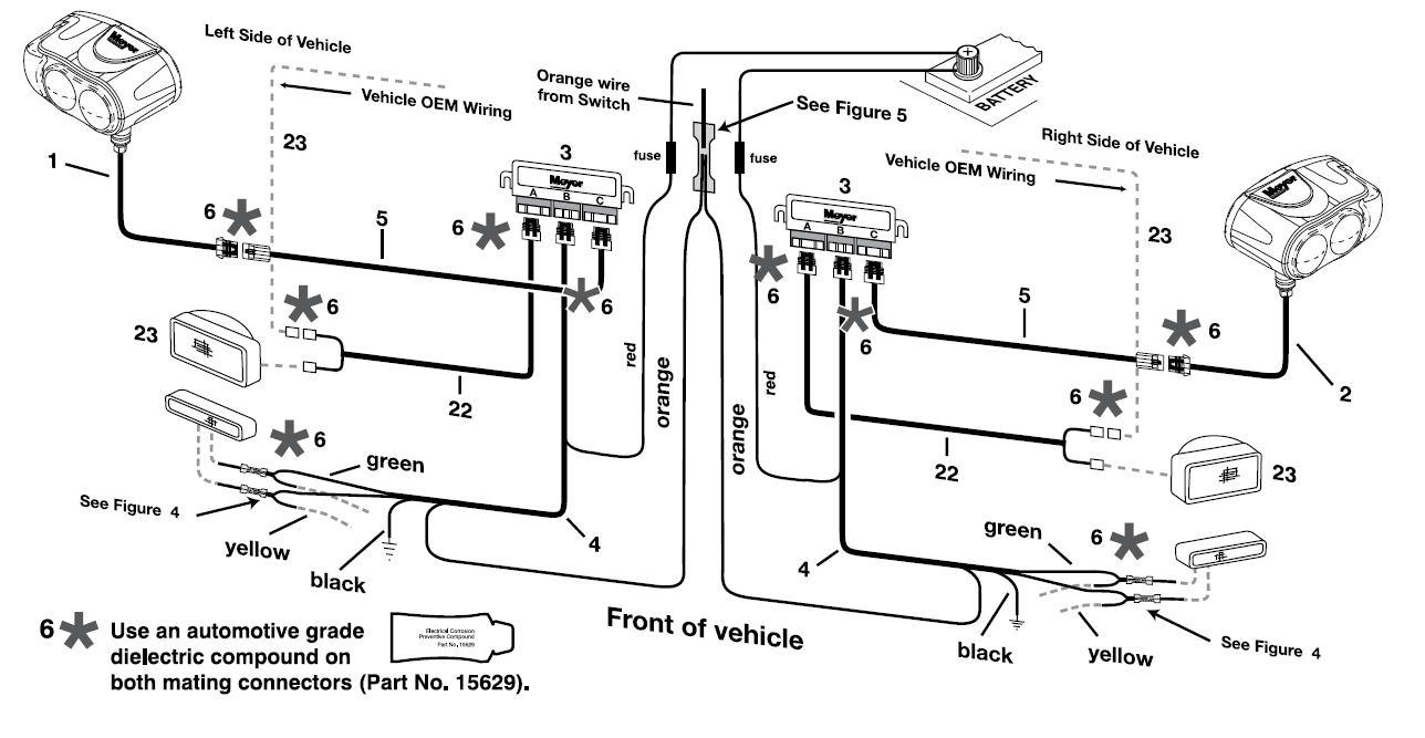 saber lights wiring diagram meyer snow plow