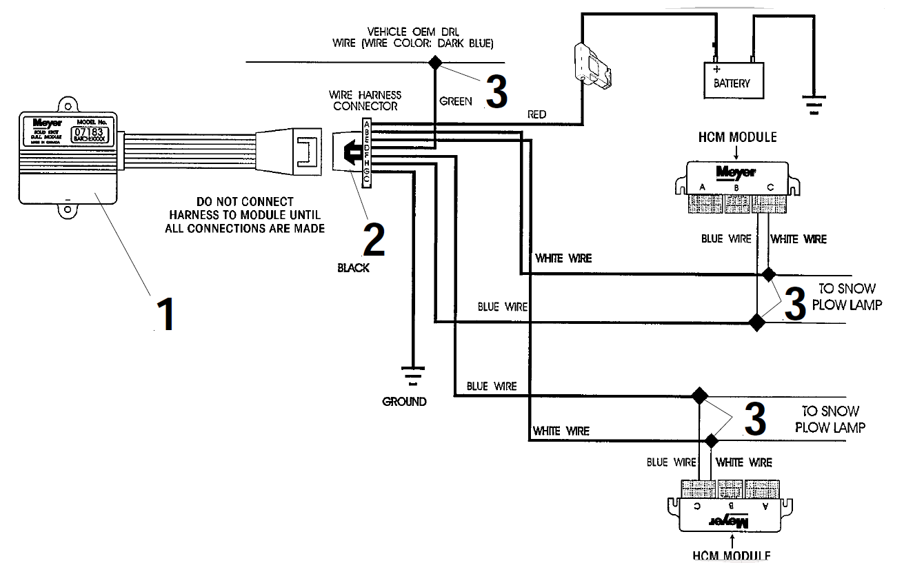 fisher plow wiring schematic for left turn