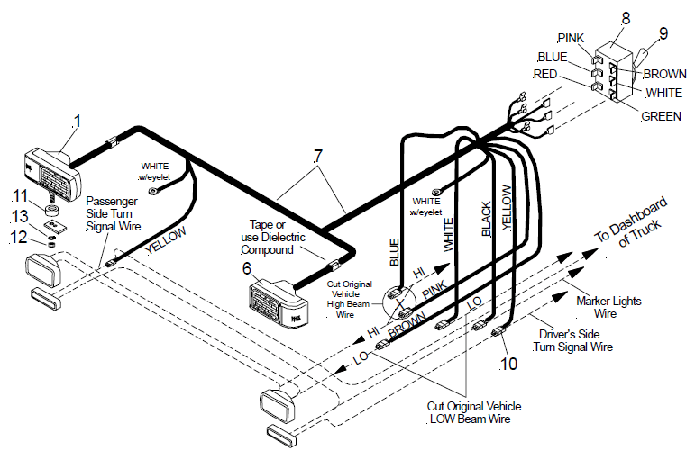 meyer truck lite wiring diagram