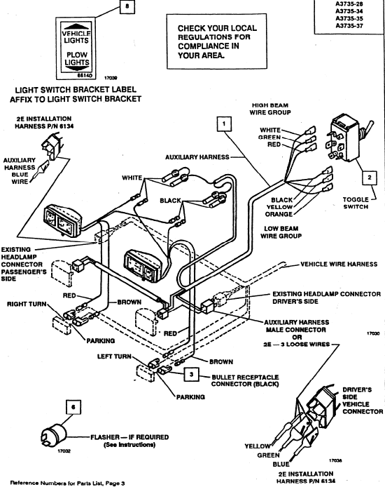 plow light wiring harness