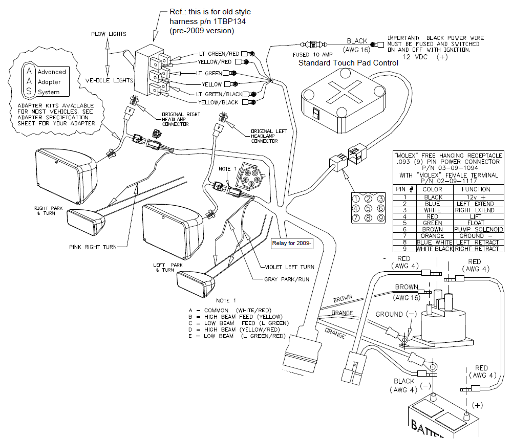 curtis plow wiring harness