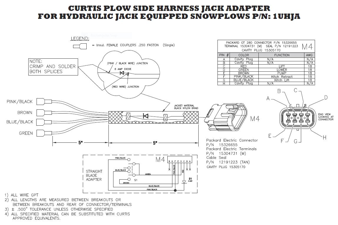 Snowdogg Snow Plow Wiring Diagram 1tbp100 Curtis Jack Switch Sno Pro 3000 A Frame