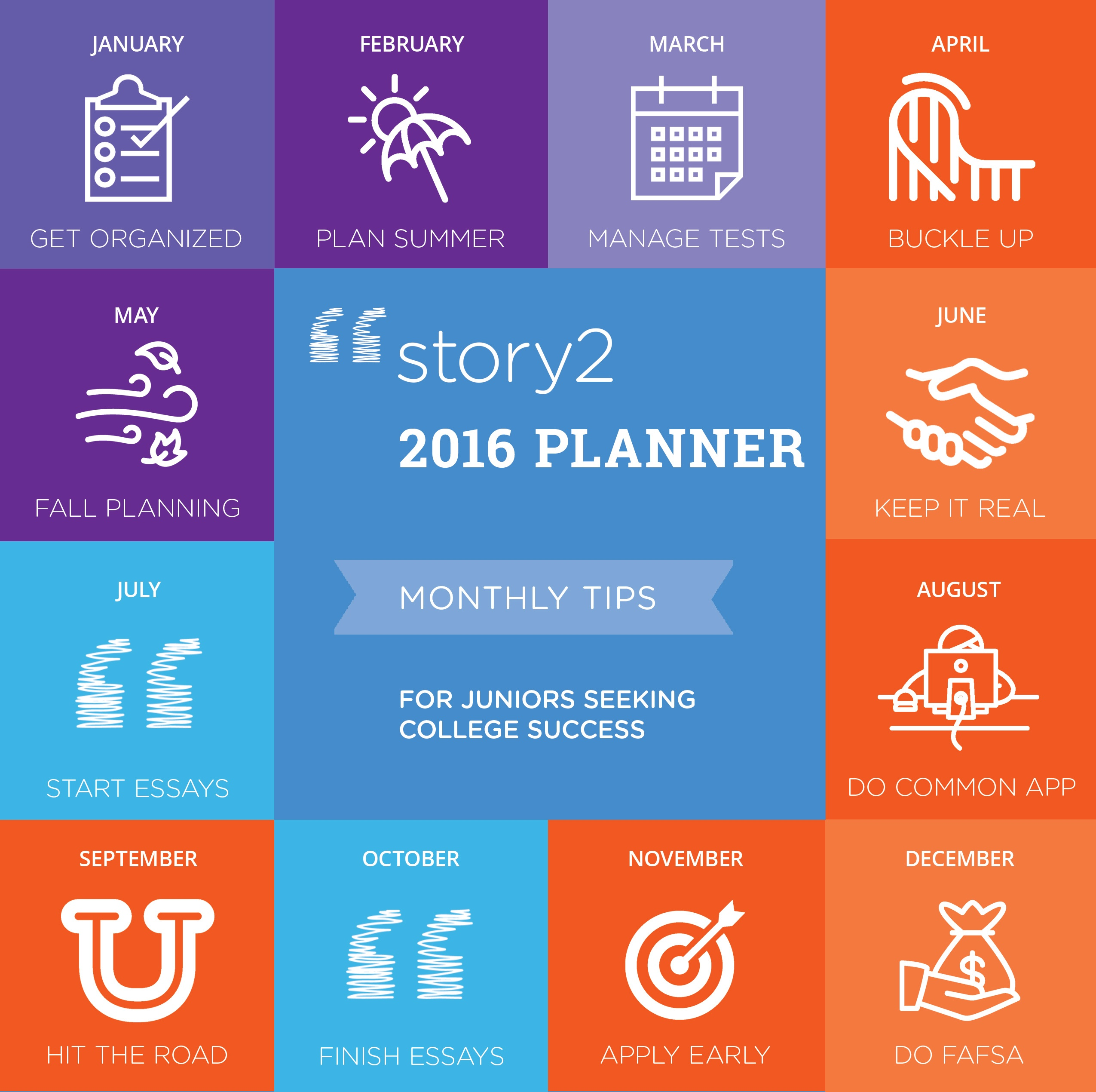 12 Months, 12 Tips for Juniors To Master Your College Planning + Get