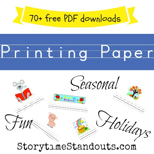 Writing Paper for Kids - Free Printable Interlined Kindergarten Paper
